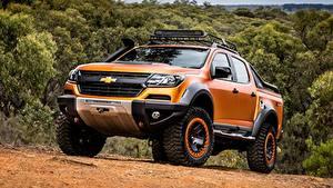 Обои Chevrolet Пикап кузов Оранжевый Металлик 4x4, Colorado, Z71, 2016, Xtreme Concep машина