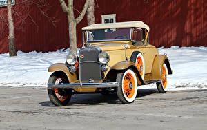 Картинки Шевроле Винтаж Желтые Родстер 1931 Independence Sport Roadster