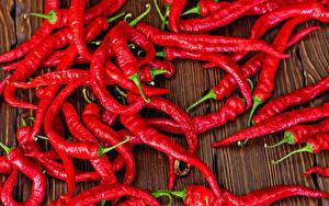 Фотографии Острый перец чили Много Красных Еда