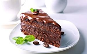 Фото Пирожное Шоколад Кофе Торты Тарелка Зерно Часть Пища