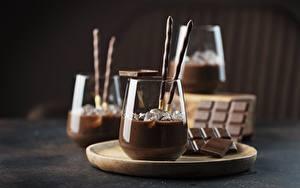 Обои Шоколад Напитки Стакане Льда Продукты питания