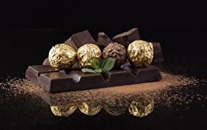 Фотографии Шоколад Шоколадка Конфеты Шар