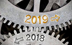 Картинка Рождество 2019 2018 Стрелка (символ) Шестерня