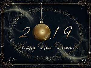 Обои Рождество 2019 Шарики Английский