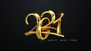 Фото Новый год Текст Английская Черный фон 2021