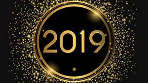 Обои для рабочего стола Новый год Черный фон 2019