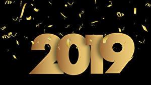Фото Новый год Черный фон 2019