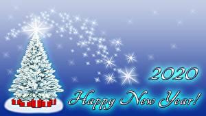 Обои Новый год Новогодняя ёлка Подарки 2020 Английский