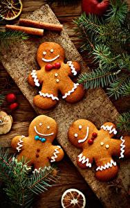 Фотография Рождество Печенье Ветвь Дизайн Пища