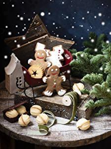 Обои для рабочего стола Рождество Печенье Ветвь Дизайна Пища