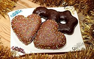 Фотография Рождество Печенье Шоколад