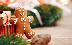 Фото Рождество Печенье Вблизи Боке Еда
