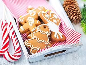 Картинки Рождество Печенье Сладости Дизайн Продукты питания