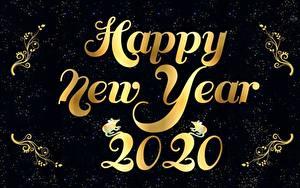 Фотография Новый год Английский Черный фон 2020