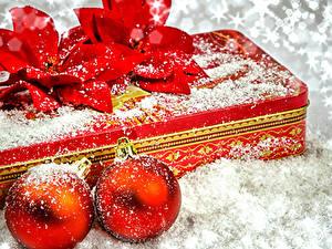 Картинка Рождество Подарки Снег Шар