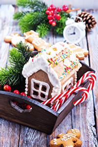 Фотография Новый год Выпечка Здания Сладости Дизайн Еда