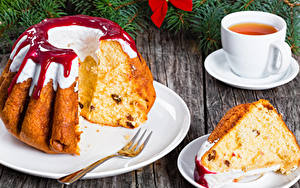 Обои Рождество Выпечка Кекс Чай Варенье Часть Чашка Еда