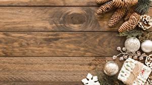 Обои Рождество Шишка Доски Шар Шаблон поздравительной открытки