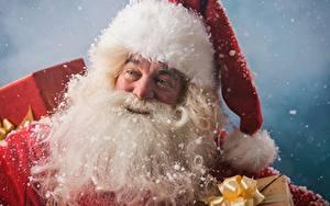 Картинки Рождество Санта-Клаус Борода Шапки