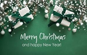 Картинки Рождество Снежинка Подарок Слова Английская Шар
