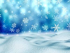 Фото Рождество Снежинка Снегу