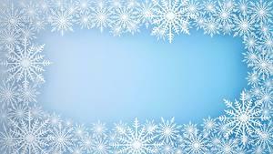 Обои Новый год Снежинки Шаблон поздравительной открытки