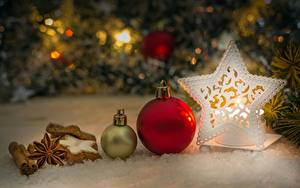 Фото Новый год Звездочки Шарики Боке