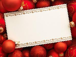 Обои Рождество Шаблон поздравительной открытки Шар Красный