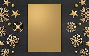Обои Новый год Шаблон поздравительной открытки Снежинки