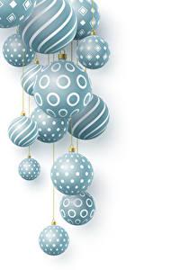 Картинки Рождество Белом фоне Шар 3D Графика