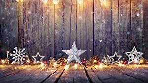 Фотография Новый год Доски Снежинки Шарики Звездочки