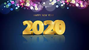 Фотографии Новый год Слово - Надпись 2020 Инглийские