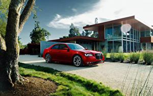 Фотографии Chrysler Дома Дороги Красных Металлик Дорогие 2015 300 S Автомобили