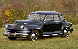 Обои Chrysler Винтаж Черный Седан 1942 New Yorker 4-door Sedan