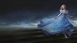 Фотография Золушка (фильм, 2015) Лили Джеймс Платья кино Девушки