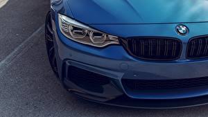 Обои Вблизи BMW Фары Синий F82 Adaptive LED Автомобили