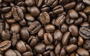 Фотографии Вблизи Кофе Много Зерно Пища