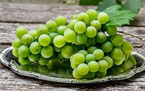 Картинки Вблизи Виноград Продукты питания