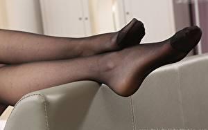 Фотография Вблизи Ноги Колготках девушка