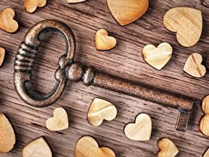 Фото Вблизи День всех влюблённых Сердечко Ключом