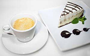 Картинки Кофе Капучино Пирожное Шоколад Чашке