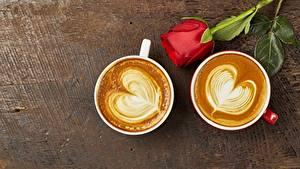 Обои Кофе Капучино Роза Сердечко Чашке 2