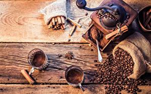 Обои Кофе Корица Бадьян звезда аниса Доски Чашка Зерна Еда