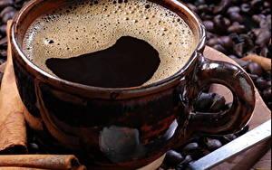 Картинки Кофе Крупным планом Чашка Пища