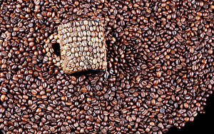 Картинки Кофе Зерно Кружки