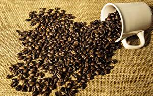 Обои Кофе Кружки Зерно