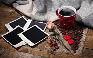 Картинка Кофе Розы Конфеты Кружка Зерна Пар Еда
