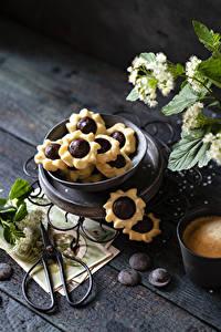 Картинка Печенье Шоколад Доски Пища