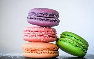 Обои Печенье Крупным планом Макросъёмка Макарон 4 Продукты питания
