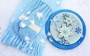 Картинки Печенье Рукавицы Шарф Снежинки